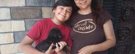 Ms. Euden Koirala & Family Adopts a Dog From our Shelter. Thank You So Much